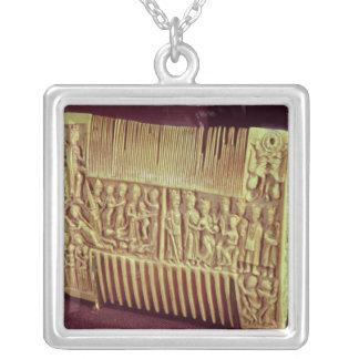 Liturgischer Kamm, Schule von St Albans, c.1120 Versilberte Kette