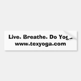 Live. Atmen Sie. Tun Sie Yoga Autoaufkleber