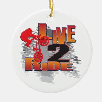 Live-BMX Radfahrer der Fahrt2 Keramik Ornament