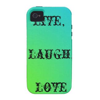 Live-, Lachen, aquamarines und Limones Grün der Li Vibe iPhone 4 Hüllen