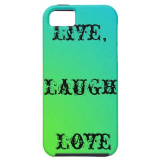Live-, Lachen, aquamarines und Limones Grün der Tough iPhone 5 Hülle