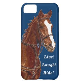 Live! Lachen! Fahrpferd iPhone 5C Schale
