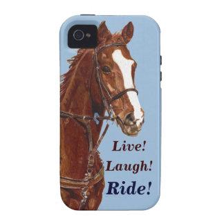 Live Lachen Fahrpferd iPhone 4 Case