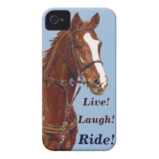 Live! Lachen! Fahrpferd Case-Mate iPhone 4 Hüllen