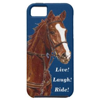 Live! Lachen! Fahrpferd iPhone 5 Hülle