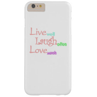 Live- Lachen - Liebe Barely There iPhone 6 Plus Hülle