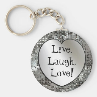 Live, Lachen, Liebe! Glitter Keychain Schlüsselband