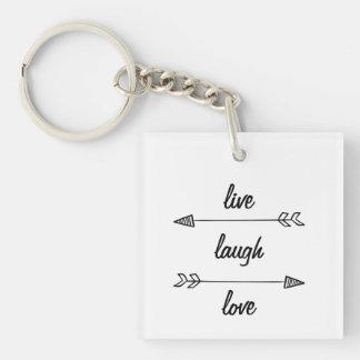Live, Lachen, Liebe-Schlüsselkette Schlüsselanhänger