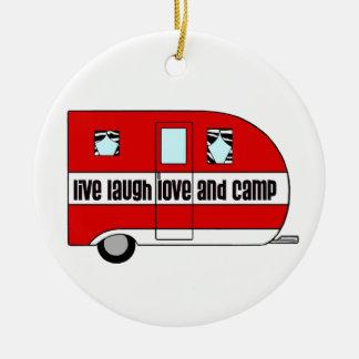 Live-, Lachen, Liebe und Lager Keramik Ornament