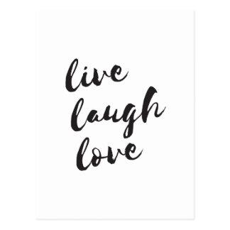 Live, Lachen, Liebepostkarte Postkarte