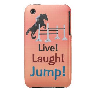 Live! Lachen! Sprung! Pferdepullover iPhone 3 Hülle