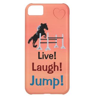 Live! Lachen! Sprung! Pferdepullover iPhone 5C Hüllen