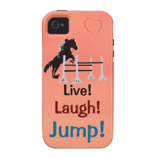 Live! Lachen! Sprung! Pferdepullover iPhone 4/4S Cover