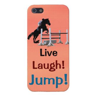 Live Lachen Sprung Pferdepullover iPhone 5 Hülle
