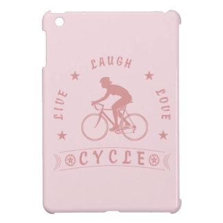 Live Laugh Love Cycle Dame Text (Rosa) iPad Mini Hülle