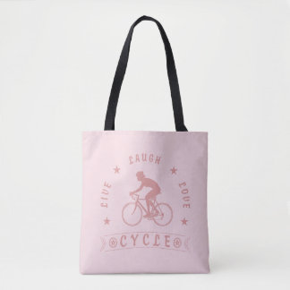 Live Laugh Love Cycle Dame Text (Rosa) Tasche