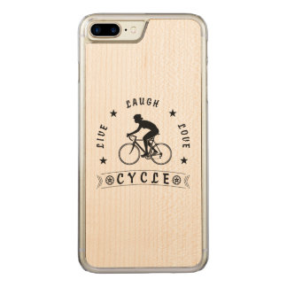 Live Laugh Love Cycle Dame Text (Schwarzes) Carved iPhone 8 Plus/7 Plus Hülle
