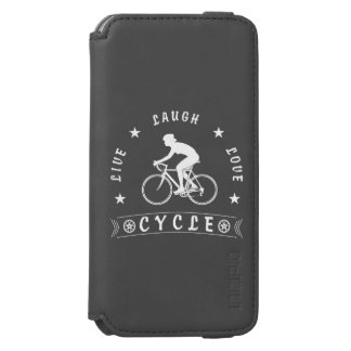 Live Laugh Love Cycle Dame Text (weiß) Incipio Watson™ iPhone 6 Geldbörsen Hülle