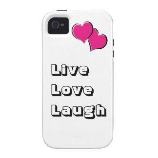 """""""Live, Liebe, Lachen """" iPhone 4 Hüllen"""