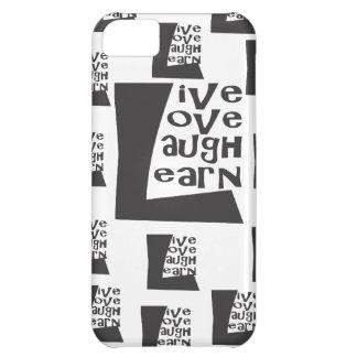 Live, Liebe, Lachen, lernen Sie iPhone 5C Hüllen