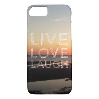 Live, Liebe, Lachen-Telefon-Kasten - iPhone 7 iPhone 7 Hülle
