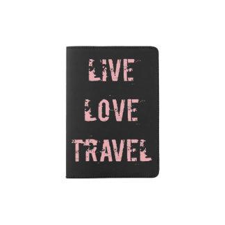 Live, Liebe, Reise-Pass-Halter Passhülle