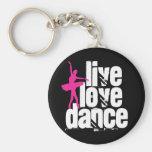 Live, Liebe, Tanz-Ballerina Schlüsselband