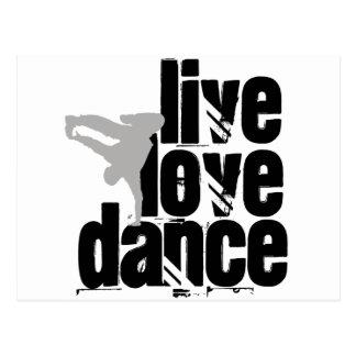 Live, Liebe, Tanz Postkarte