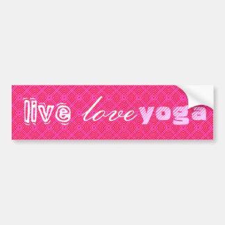 Live. Liebe, Yoga Autoaufkleber