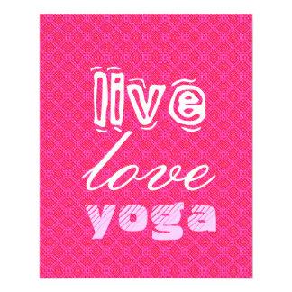 Live. Liebe. Yoga Vollfarbige Flyer