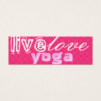 Live. Liebe. Yoga Mini Visitenkarte
