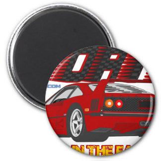 LIVE_LIFE_IN_THE_FAST_LANE: vierzig Runder Magnet 5,7 Cm