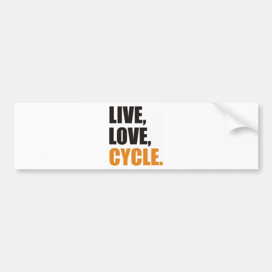 Live, Love,Cycle Autoaufkleber