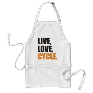Live, Love,Cycle Schürze