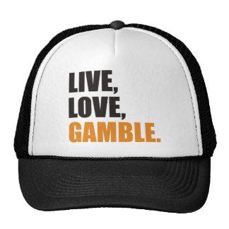 Live,Love, Gamble Netzkappe