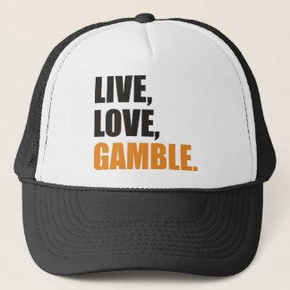 Live,Love, Gamble Truckerkappe