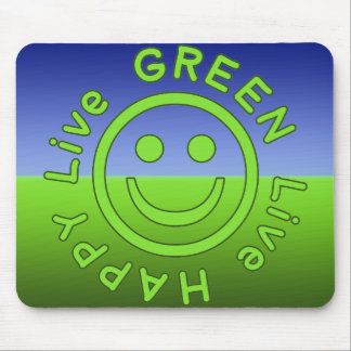 Livegrün-glückliche Prolebhaftumwelt ökologisch Mousepads