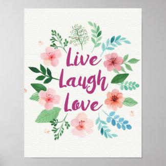 Livelachen-Liebe-Leinwanddruck Poster
