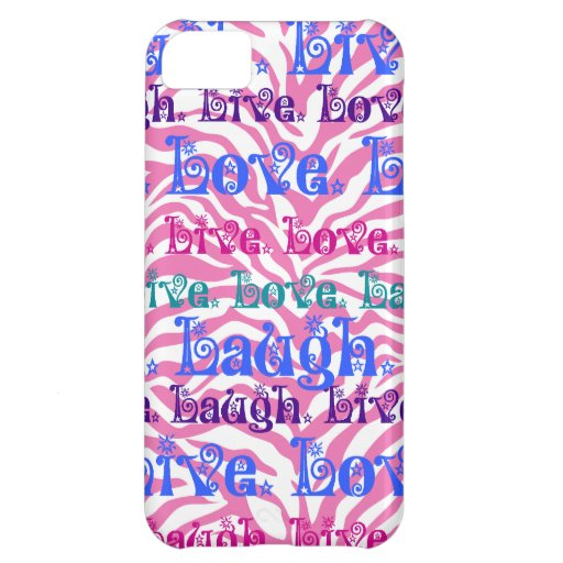 Livelachen-LiebeGirly rosa Zebra-Streifen-Druck iPhone 5C Cover
