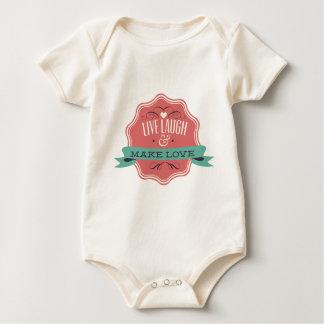 Livelachen macht Liebe Baby Strampler