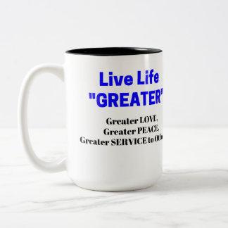 """Liveleben-""""GRÖSSERE"""" Liebe-Friedensc$zwei-ton Zweifarbige Tasse"""