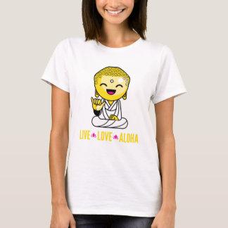 LiveLiebe-Aloha lustiger Buddha-Cartoon T-Shirt