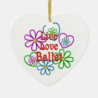 LiveLiebe-Ballett Keramik Ornament
