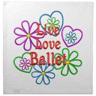 LiveLiebe-Ballett Stoffserviette