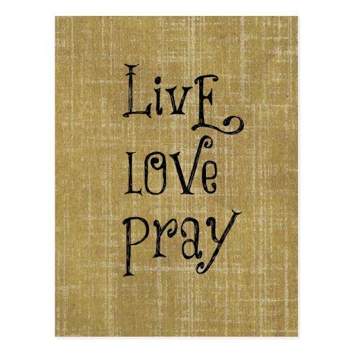 LiveLiebe beten christliche Zitat-Bestätigung Postkarten