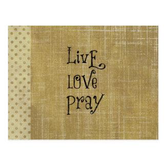 LiveLiebe beten christliche Zitat-Bestätigung Postkarte