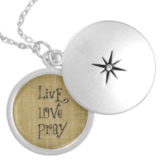 LiveLiebe beten christliche Zitat-Bestätigung Versilberte Kette