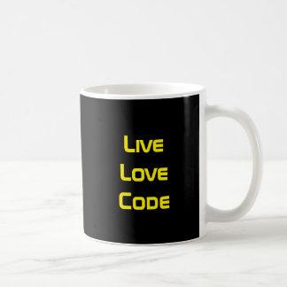 LiveLiebe-Code Kaffeetasse