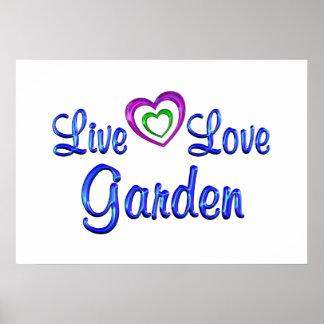 LiveLiebe-Garten Posterdruck
