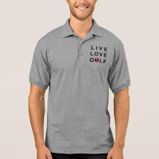 LiveLiebe-Golf, das rotes Schwarzes Golf spielt Polo Shirt